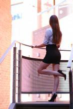 Ariadna Majewska - social media thread 67845862_ari_maj-koszula-spodniczka-mini-czarne-szpilki