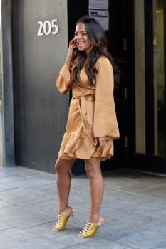 Christina Milian - Leaving A Television Studio In New York (4/26/18)