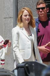 Emma Stone - On set of a photoshoot in LA 4/28/18
